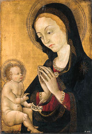 Pellegrino di Mariano . The Madonna and Child. 1460-70. Christie's..jpg
