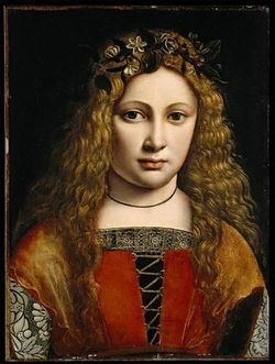 Portrait of a Youth Crowned with Flowers circa 1490 Giovanni Antonio Boltraffio North Carolina Museum of Art.jpg