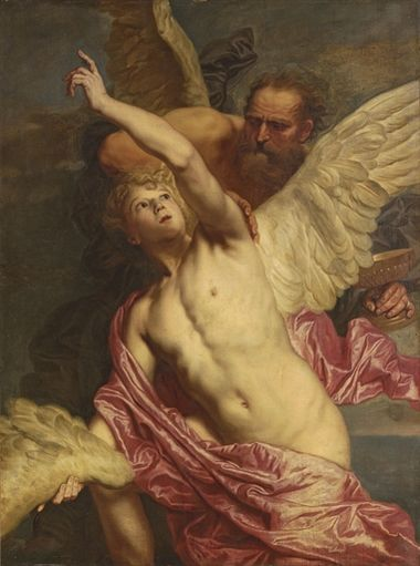 Pieter Thijs - Daedalus fixing wings onto the shoulders of Icarus.jpg