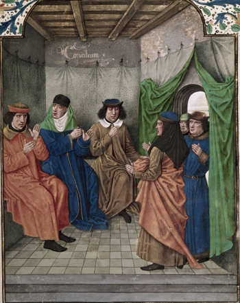 Royal 18 E III f. 133 Council1.png