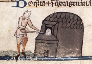 Royal 10 E IV f. 145 Man visiting baker(fr.).JPG