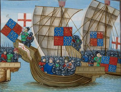 Royal 18 E I f. 103v English ships.jpg
