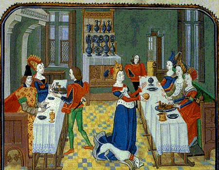 Christine de Pisan , L' Epitre d' Othea , ca. 1460 . Brussels , Royal Library of Belgium , Ms. 9392 , fol. 63v1.png