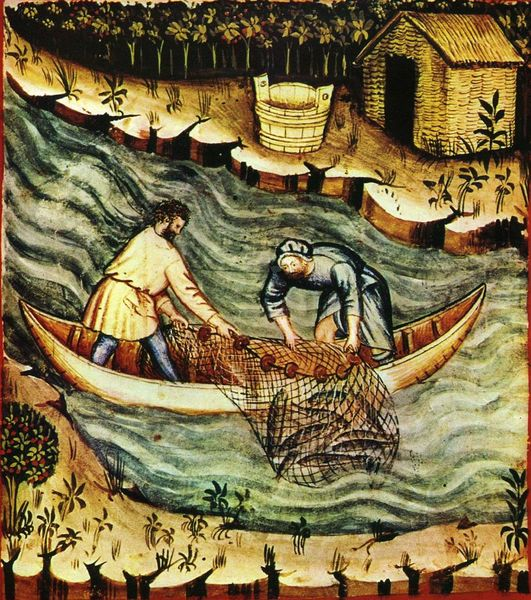 Файл:36-pesca,Taccuino Sanitatis, Casanatense 4182. tav. 157 1.jpg